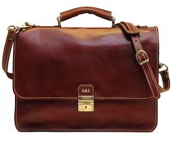 Adel International Brown Leather Briefcase Bag