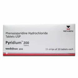 Pyridium Phenazopyridine Hydrochloride Tablet, Menarini India Pvt Ltd, Packaging Size: 15 X 10 Tablets