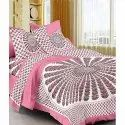 Dashing Look Pure Cotton Jaipuri Mandala Bedsheet With Two Pillow Covers