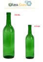 375 Ml Wine Glass Bottle - Green