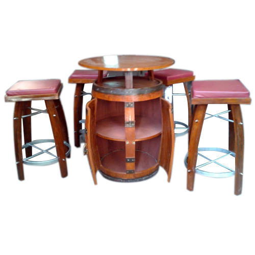 Brown Wine Barrel Bar Set Rs 45000 Set Rohilkhand Timber Traders