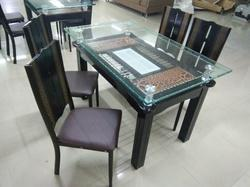Dining Table With Gl Top 4 Seater