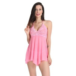 Baby Doll Dress with Fish Net/Lace