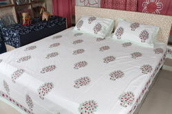 Hand Block Printed Bed Spread Cotton 3 PCs Bed sheet