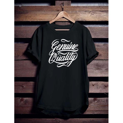 eae434bb2 Black Round Decorative Typography T Shirt, Rs 389 /piece | ID ...