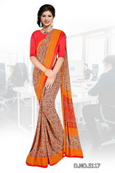 Exclusive Designer Uniform Sarees