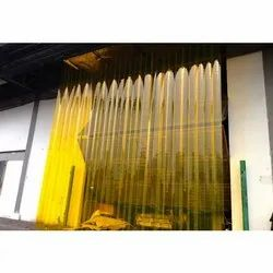 Genpack Yellow PVC Strip Curtain, For Industrial, Home, Thickness: 3 Mm
