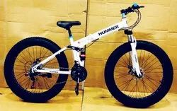 White Hummer Foldable Cycle
