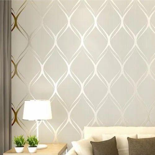 Premium Textured Wallpaper Beige Modern Pattern