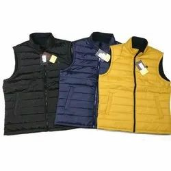 Casual Wear Polyester Mens Sleeveless Winter Jacket, Size: XL