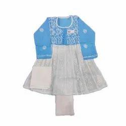 Cotton Kids Lucknowi Chikankari Anarkali Suit