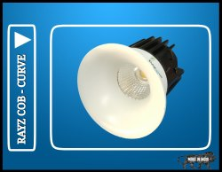 Round COB Downlight 12 Watt Rayz Curve Model