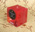Red Square Scented Pillar Candle