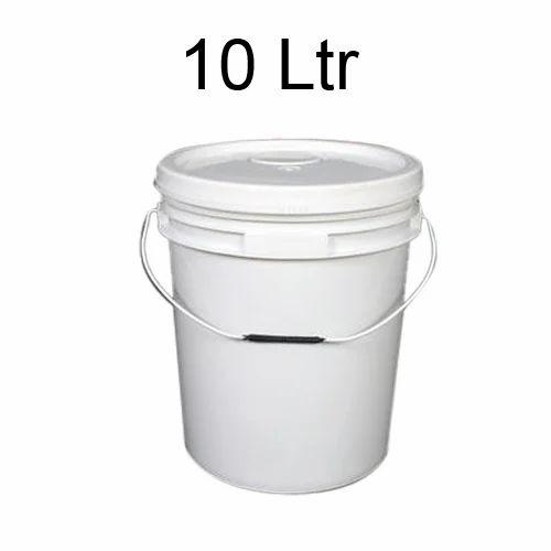 5 x 3.8 L Plastic White Bucket Storage Food Grade Kitchen Baking Garden Paint