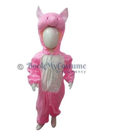 Girls Pink Pig Sooar Animal Kids Fancy Dress Costume be65f00405ae