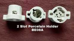 Porcelain B22 2 Slot Lamp Holder BE08A