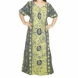 Printed Full Length Ladies Night Dress