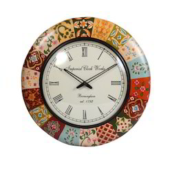 WOODEN COLORFUL WALL CLOCK