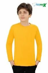 Teemax Kids Plain T Shirt in Full Sleeve Yellow Color