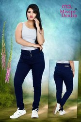 Ladies Stretchable Blue Denim Jeans