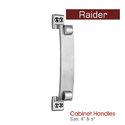 Zinc Designer Cabinet Handle, Nickel And Silver