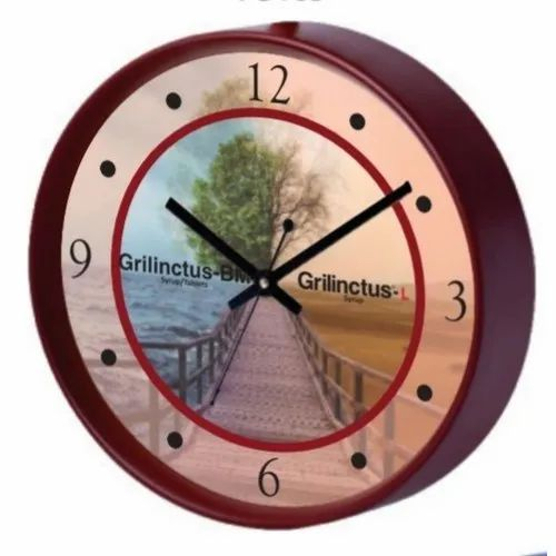 Analog Wooden Wall Clock, For Home, Office, Packaging Type: Box