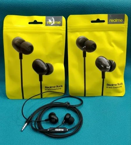 Wired Black realme headphone, Packaging Type: Box Packing, 39.99 Gm