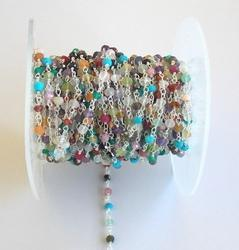 Multi Stone Beaded Chain