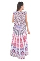 Indian Cotton Mandala Long BeachFrill Handmade Printed Dress
