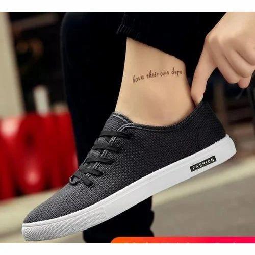 6dc5e3ae2 Well Feet Mens Black Formal Canvas Casual Shoes