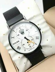 Black-white Rolex Metal Belt Watch