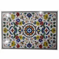 Italian Stone Pietra Dura Marble Inlay Octagonal Table Top