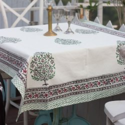 Jaipuri Cotton Table Cover Block Printed