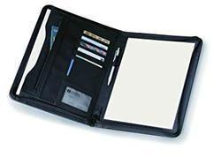 Black Folder with Zipper