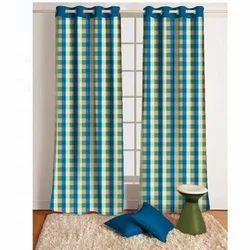 Check Decorative Curtain