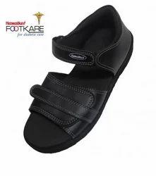 Black Preventive Diabetic Men Footwear