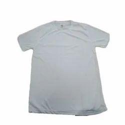 Plain Half Sleeves Kids Round Neck School T-Shirt