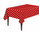 Red Polka Dots Table Cloth