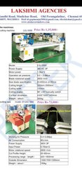 Double head cutting machine UPVC