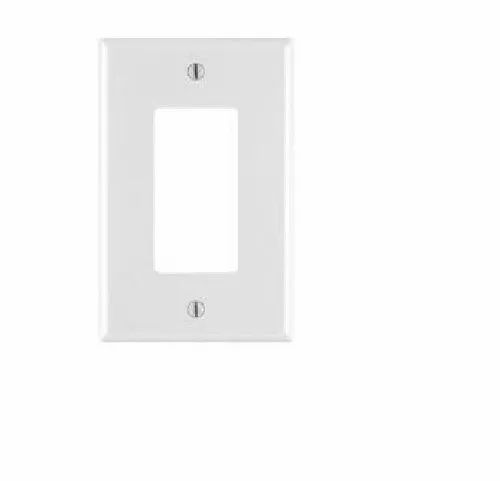 Plastic Rectangular Great White Switch Plate