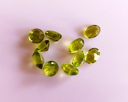 Calibrated Size Loose Peridot Faceted Cut Stone