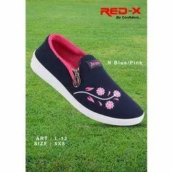 Red X Casual Wear Ladies Shoes, Size: 5