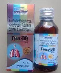 Bromhexine 4 mg,Guaiphenesin 50 mg,Terbutaline 1.25 mg & Menthol 2.5 mg
