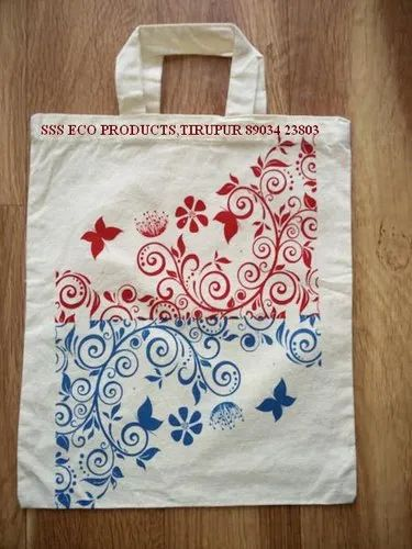 Colour Printed Cotton Cloth Bags for Shopping