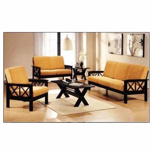 6 Seater Wooden And Polyester Sofa Set, Rs 22000 /set Handicraft Jodhpur | ID: 14695692762