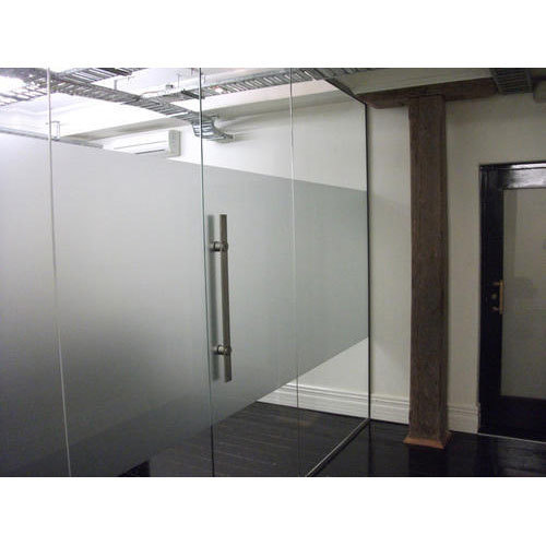 Office Glass Door Size Dimension 7 X 3 Rs 18000 Piece Door Glass Planner Id 19029985530