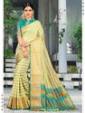 Designer Cotton Silk Weaving Saree With Blouse Piece