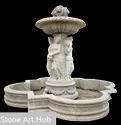 Recycle Stone Fountain With Sculpture, For Hotel, Size: 14 X 14 X 12 Feet