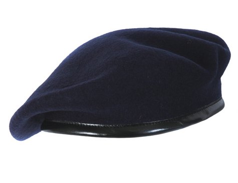 106e09ff Blue Beret Cap, Rs 25 /piece, Suresh Brothers | ID: 19293459388