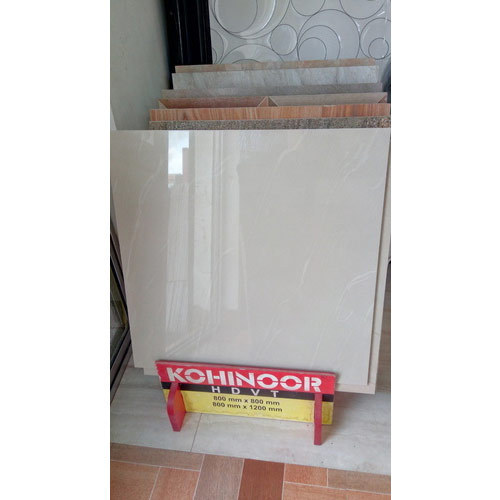 Kohinoor White Floor Tiles Size 60 60 Cm Rs 38 Square Feet Jagannath Marble Granites Id 15485341655